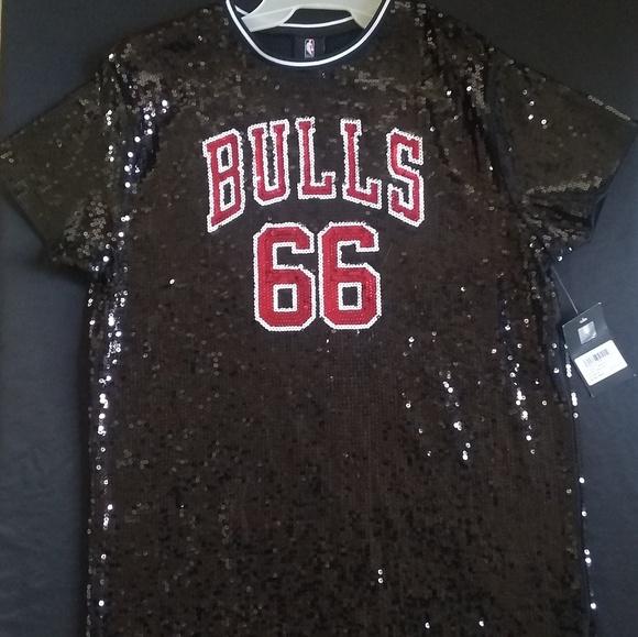big sale 921b0 ca5c2 Chicago Bulls Black Sequin Dress Size Small NWT